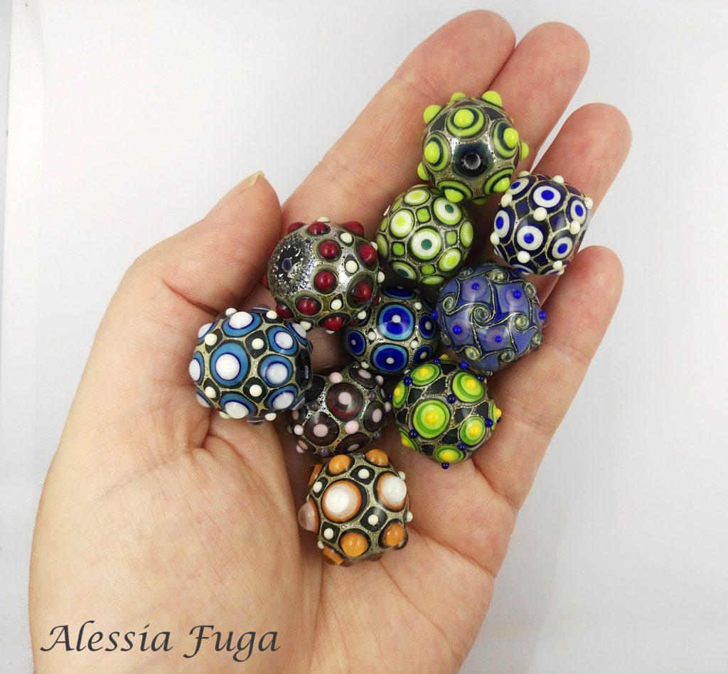 "Small ""Fenice"" beads ensemble"