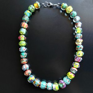 Green Fantasia necklace by Alessia Fuga